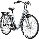 Zündapp Green 2.7 28 Zoll E-Bike E Cityrad Damenrad Pedelec Elektrofahrrad Damen Fahrrad 700c (grau, 48 cm)