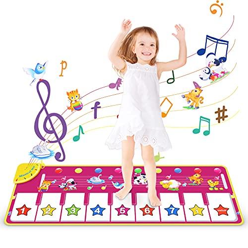 Wostoo Alfombrilla Para Piano, Alfombrilla De Música De Danza Para Niños, Linda Voz De Animales, Teclado De Piano, Alfombrilla Musical, Alfombra De Tocar Para Piano Para Niños Y Niñas, 100 X 36 cm