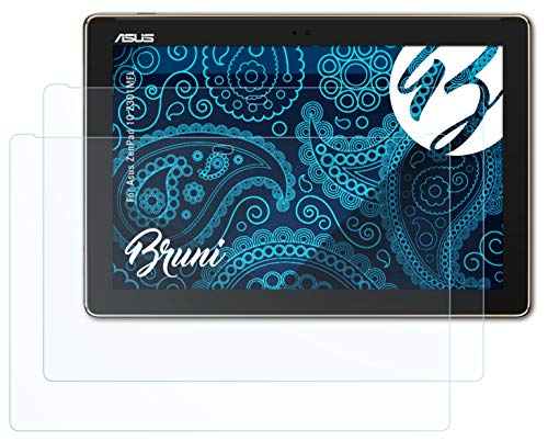 Bruni Schutzfolie kompatibel mit Asus ZenPad 10 Z301MFL Folie, glasklare Bildschirmschutzfolie (2X)