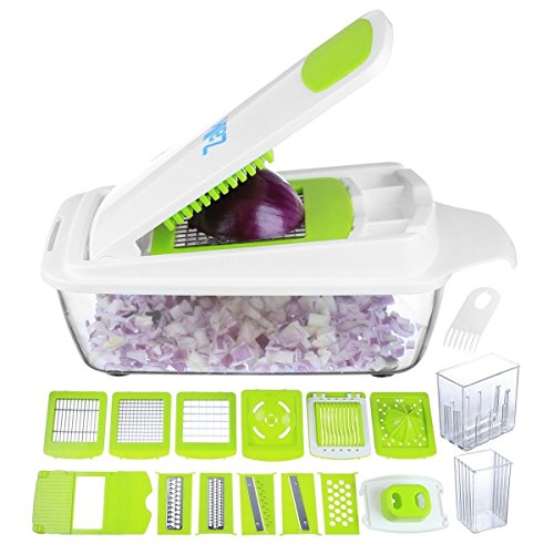 Vegetable Chopper Pro Onion Chopper - Mandoline Slicer Dicer Cutter & Grater - Strongest & 30%...