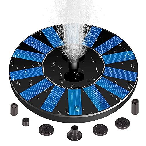 Solar Fountain Pump, 1.4W 6 Nozzles Solar Water Fountain Powered Fountain,...
