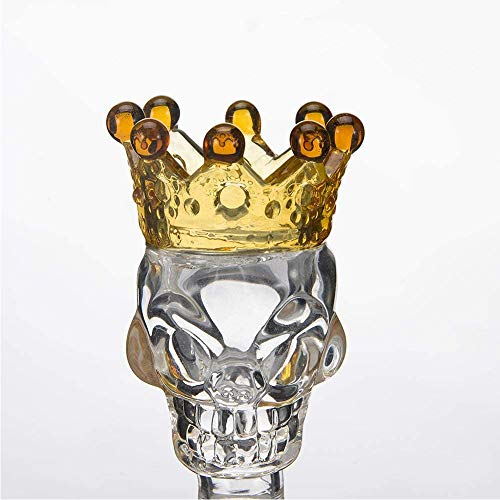 Glass Crown Transparent Crown Yellow Glass Taro 14MM Decorative Bowls (1, yellow)