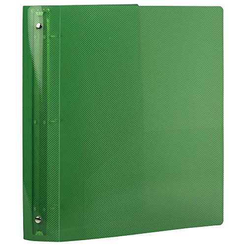 JAM PAPER Plastic 1.5 inch Binder - Green 3 Ring Binder - Sold Individually Photo #4