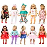 ZQDOLL 19 pcs Girl Doll Clothes Gift for American 18...