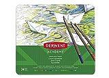 Derwent 2301942 - Caja Metálica 24 Lápices de Colores Acuarelables, Multicolor