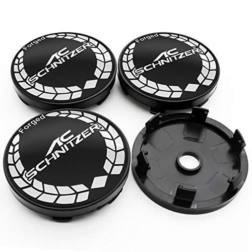 NCUIXZH 4 Stück 56 / 60mm Auto Rad Mittel Radkappe Auto Felge Refit Abzeichen Creative Emblem Cover Aufkleber, für BMW AC Schnitzer E46 E39 E90 X3 X6