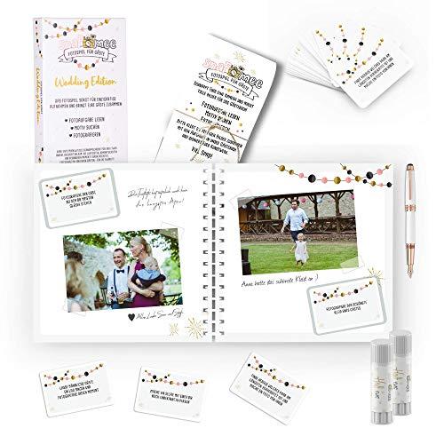 Preisvergleich Produktbild Fotospiel Hochzeit Sparpaket / snaPmee Deluxe / Kartenbox,  Fotobuch,  Tischaufsteller,  Klebesticker / Rundumsorglos-Spiel-Paket für Brautpaare!