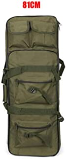 FOUOS 85cm Tactical Rifle Case, Military Rifle Storage Case, M4 Double Gun Bag Padded Adjustable Shoulder Strap Gun Bag Pistol Airsoft Backpack for Hunting,