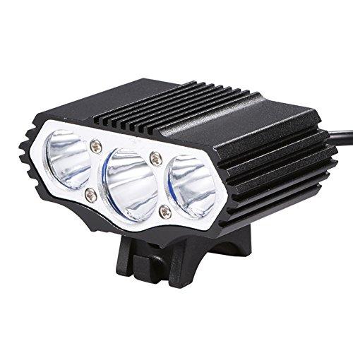 Demeras Fahrradscheinwerfer Fahrradlichtset 3600LM USB LED Fahrradscheinwerfer Frontleuchte für Nachtfahrten im Freien Radfahren