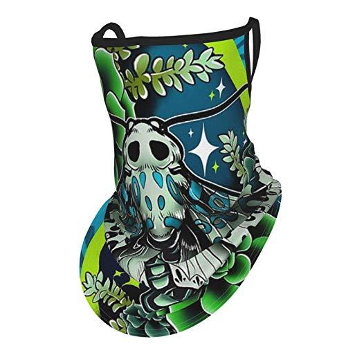 asdew987 Bufanda de piel de leopardo con bucles para las orejas de seda para el cuello, pasamontañas para hombres y mujeres