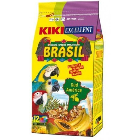 Gzm Kiki Brasil 4Kg Alimento Especies Amazónicas Guacamayo y Loro Amazonas