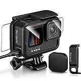 GoPro Hero 9Black用(保護フィルム+電池カバー+ ケース+レンズカバー) ゴープロ アクセサリー