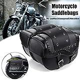 Kampre Motorrad Satteltasche Leder Wasserdicht Werkzeugtasche Große Kapazität Motorradtasche mit...