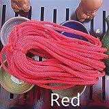 JYBHSH Cuerda de Polipropileno PP 3 mm de diámetro Punto Negro Cable de tracción 900D Bolso Cuerda Crochet 100 Metros de la Cuerda de Hilo (Color : Red)