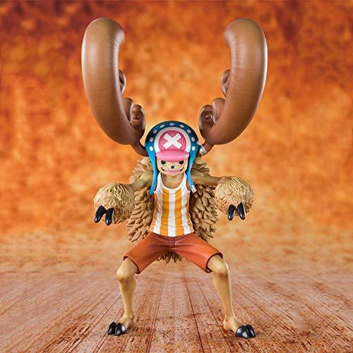WISHVYQ One Piece Anime Model 20th Anniversary Transformation Tony Tony Choppe Versión Escultura Decoración Estatua Muñeca Modelo Juguete Altura 17.5cm