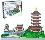 FJJF Architecture West Lake Model Building Blocks, Mini Ladrillos Nano Ladrillos Set De Construcción Modular, Regalo para Niños para Niños (7200Pcs)