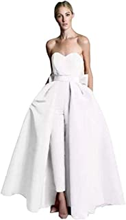 Women's Jumpsuits Evening Dress With Detachable Skirt Prom Gowns Pants