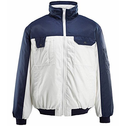 Mascot 00922-620-61-3XL jack pilotenjack Bolzano maat 3XL in wit/marineblauw