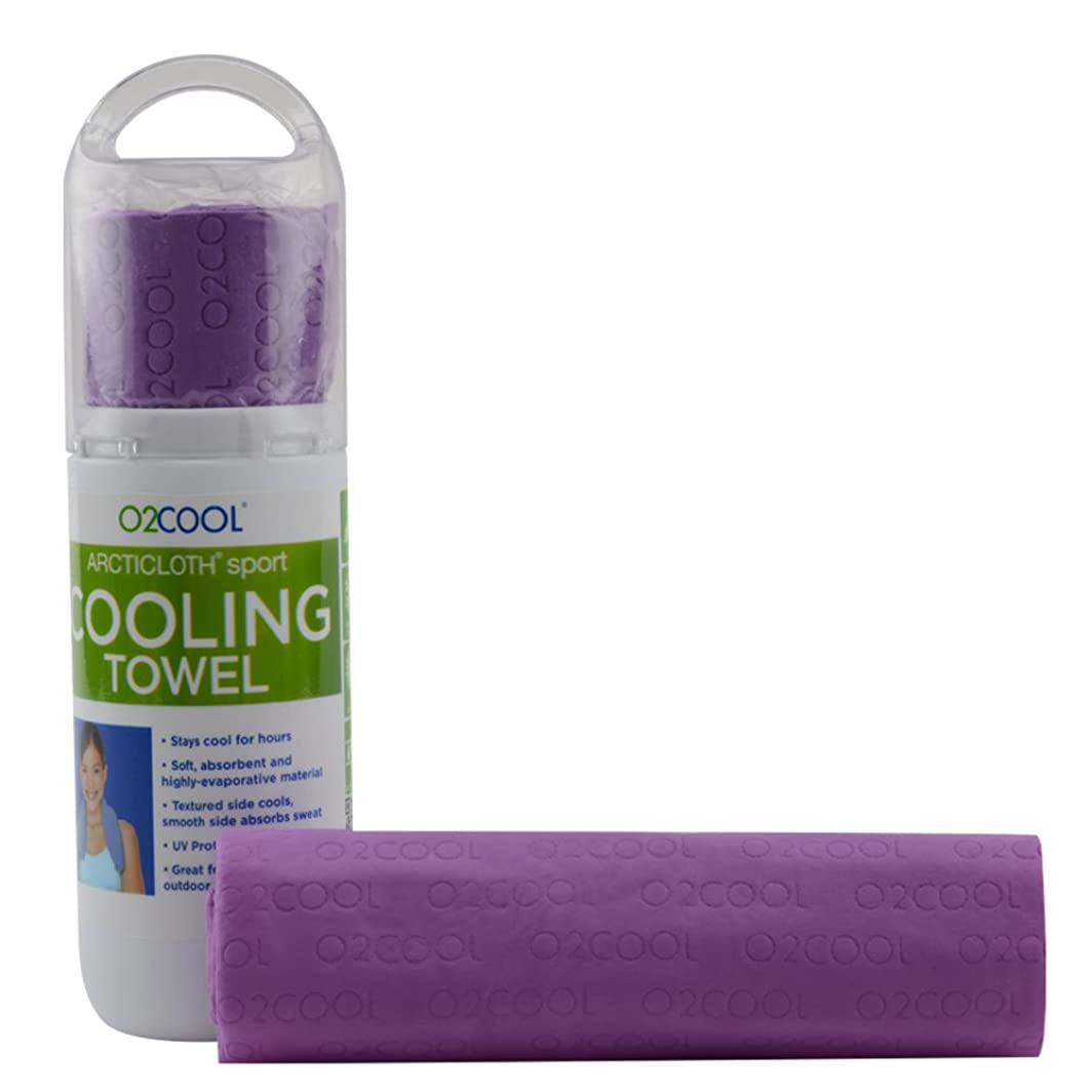 O2COOL ArctiCloth Sport Cooling Towel, Purple