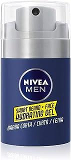 NIVEA MEN Gel Hidratante Rostro y Barba Corta (1 x 50 ml), gel para el cuidado de la barba, cuidado facial para una barba suave y una piel hidratada