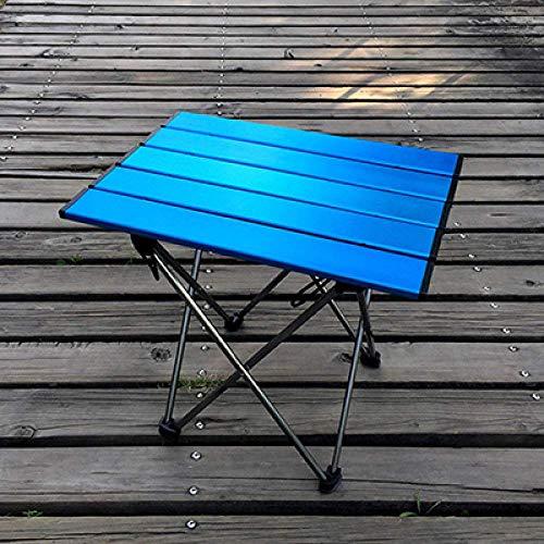 1yess Klapptisch Tragbare Klapptisch Camping Grill Wandern Mini Rucksack Reise Picknick im Freien Aluminiumlegierung Ultraleicht, SF74000BU, 2 8bayfa (Color : Sf74000bu)