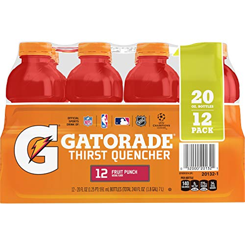 Gatorade Thirst Quencher Fruit Punch 20 Ounce Bottles Pack of 12