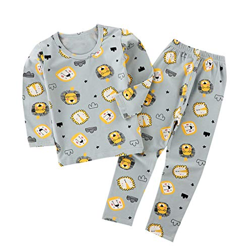 Fantastic Deal! BPOF99 Baby Girl Bodysuits Lovely Child Baby Long Sleeve Cartoon TopsPants Pajamas S...