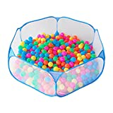 Jacone Portable Cute Blue Hexagon Children Ball Pit, Indoor and Outdoor Easy Folding Ball Play Pool...