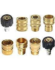 "M22 Ultimate Hogedrukreiniger Adapter Kit Auto Spuitpistool Aansluiting Set M22 3/8"" Quick Connect 3/4"" snelspanner"