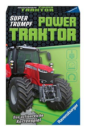 Ravensburger Kinderkartenspiele 20689 - Kartenspiel, Supertrumpf Power Traktor, Quartett und Trumpf-Spiel für Technik-Fans ab 7 Jahren