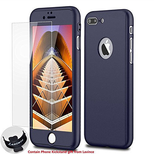 Phone 7 Plus Case,Lavince Full Body Protection Hard Slim Cover[Dual Layer] with Tempered Glass Scree - http://coolthings.us