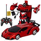 Xplanet Transformation Toys Robot Car RC Car for Kids , One-Button Deformation Car Model Toy 1:18 Transformation Remote Control Vehicle for Children Perfect for Birthday Gift