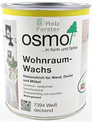OSMO Wohnraum-Wachs 7394 weiß deckend, 0,75 Liter