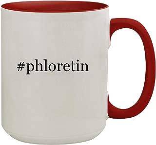#phloretin - 15oz Hashtag Colored Inner & Handle Ceramic Coffee Mug, Red