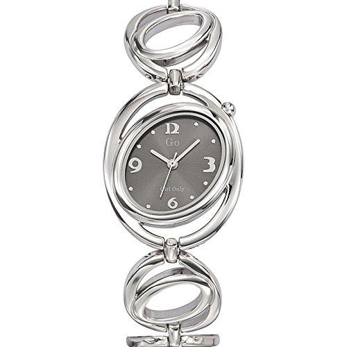 Go girl only 694825 - Reloj de Pulsera Mujer, Metal, Color Plateado