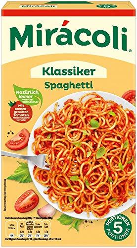Miracoli Fertiggerichte Klassiker Spaghetti, 5 Portionen, 18 Packungen (18 x 616g)