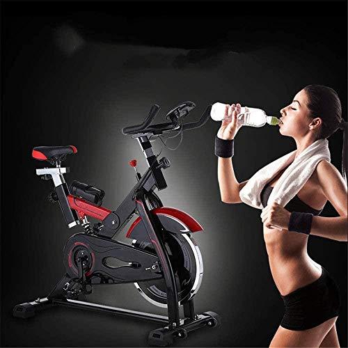 Bicicleta giratoria silenciadora deportiva para casa, pedal, entrenamiento de fitness, bicicleta de ejercicio interior, carga de 200 kg, ciclo de estudio interior, 118 x 108 x 48,5 cm, color negro