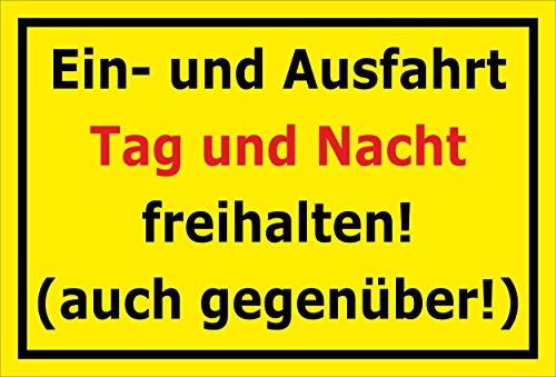 Melis Folienwerkstatt Schild EIN- und Ausfahrt freihalten - 30x20cm - Bohrlöcher - 3mm Aluverbund – 20 VAR S00245-344-C