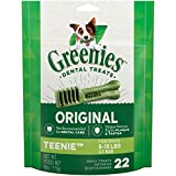 GREENIES Original TEENIE Natural Dental Care Dog Treats, 6 oz. Pack (22 Treats)