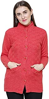 Matelco Women's Wool Round Neck Cardigan
