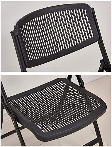 XYSQWZ Folding Chair Office Chair, Steel Feet Conference Room Training Chair Home Backrest Computer Chair (Color : White)