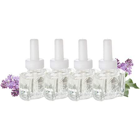 Amazon Com 4 Pack Refills Lilac Blossoms Scented Oil Plug In Refill Fits Air Wick Scented Oil Warmer Health Personal Care