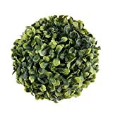 Homeford Artificial Plant Topiary Ball Boxwood Ball Wedding Decor, Green, 6-Inch