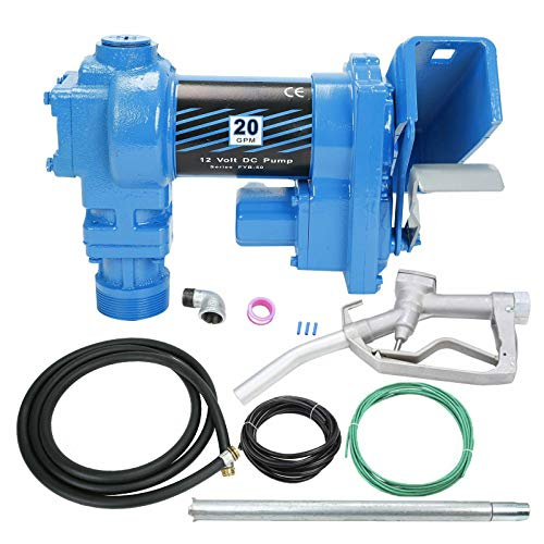 SUPERFASTRACING 20GPM 12V DC Gasoline Fuel Transfer Pump w/Nozzle Kit for Gas Diesel Kerosene