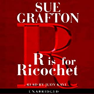 R is for Ricochet audiobook cover art