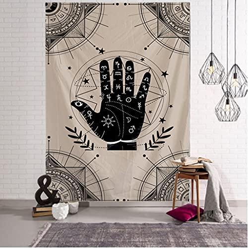 RTNUG tapizTapiz mágico de adivinación Simple, Tapiz Hippie de Pared Grande, decoración de Arte de Pared, Mandala Bohemio