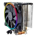 YEYIAN, Sistema Refrigeracion de CPU STORM Gaming, Ventilador de PC con RGB LED, Disipador con gran flujo de aire, 5 Tubos de Cobre, Bajo nivel ruido, 1000 a 1800 RPM - AC1200