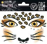 HERMA 15303 Face Art Sticker Leopard Gesicht Aufkleber Glitzer Sticker für Fasching, Karneval,...