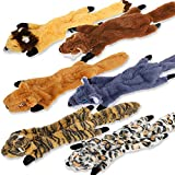 FEOAMO Squeaky Toys for Dogs, Tough Dog Toys for Boredom, Durable Dog Squeak Toys for Small Big Large Dogs, Interactive Puppy Chew Toy, No Stuffing Pet Gifts Pack