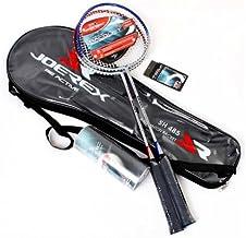 Joerex Badminton racket set 2 pcs By Hirmoz. aluminum-carbon badminton racket with shuttlecock 3 pcs. With Bag Badminton Kit